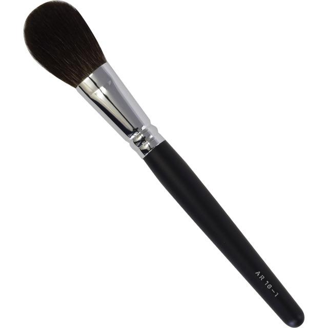 【ネコポス対応可能】黒軸ロングタイプ ARBS16-1 チークブラシ 灰リス100%  化粧筆 プロ仕様 メイクブラシ さくら筆 熊野筆