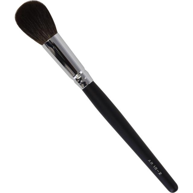 【ネコポス対応可能】黒軸ロングタイプ ARBS18-2チークブラシ 灰リス100%  化粧筆 プロ仕様 メイクブラシ