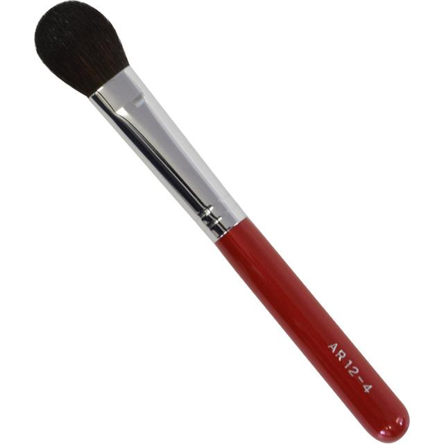 【ネコポス対応可能】赤軸ショートタイプ ARRS12-4 アイシャドウブラシ(大) 馬毛100%  化粧筆 プロ仕様 メイクブラシ さくら筆 熊野筆
