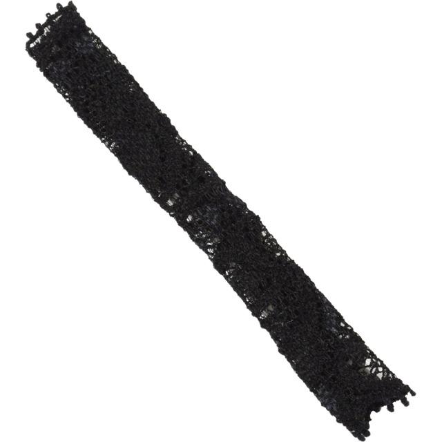 【ネコポス対応可能】化粧筆専用カバー BCL100BK ブラッシュキャップ アイシャドウブラシ用 黒 伸縮のあるレース素材