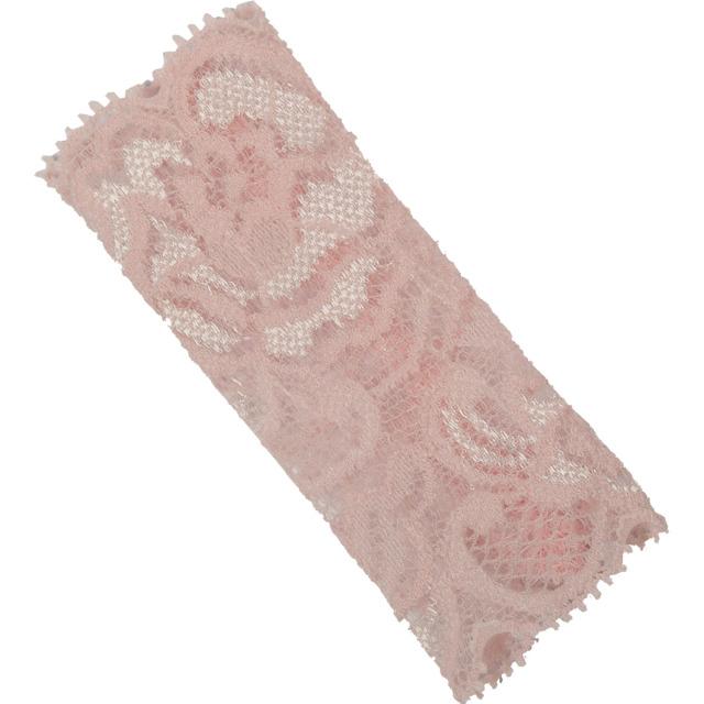 【ネコポス対応可能】化粧筆専用カバー BCL300PI ブラッシュキャップ パウダーブラシ用カバー ピンク 伸縮のあるレース素材