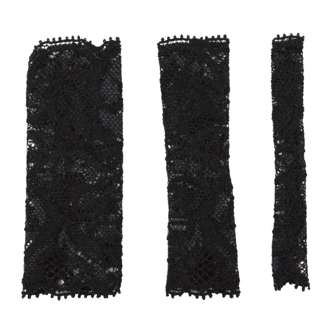 【ネコポス対応可能】化粧筆専用カバー BCL500BK ブラッシュキャップ3枚セット 黒 伸縮のあるレース素材  化粧筆カバー メイクブラシカバー