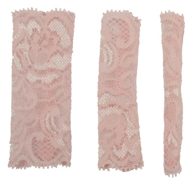 【ネコポス対応可能】化粧筆専用カバー BCL500PI ブラッシュキャップ3枚セット ピンク  伸縮のあるレース素材  化粧筆カバー メイクブラシカバー