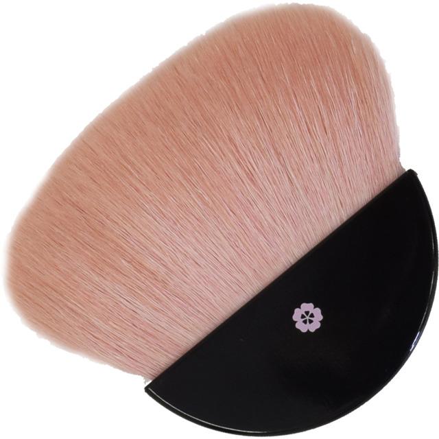 【ネコポス対応可能】 BP-4 べっぴん桜筆扇型パウダーブラシ 山羊毛100% さくら筆 熊野筆