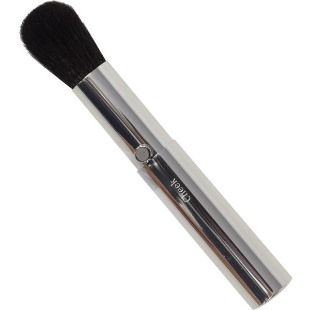 【ネコポス対応可能】SSS-C2 スタイリッシュシンプルチークブラシ 粗光峰100% 高品質のスライドタイプ化粧筆 熊野筆