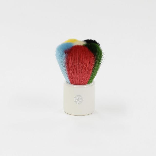 hana-1 熊野筆 化粧はな筆 彩り チークブラシ 山羊毛100%