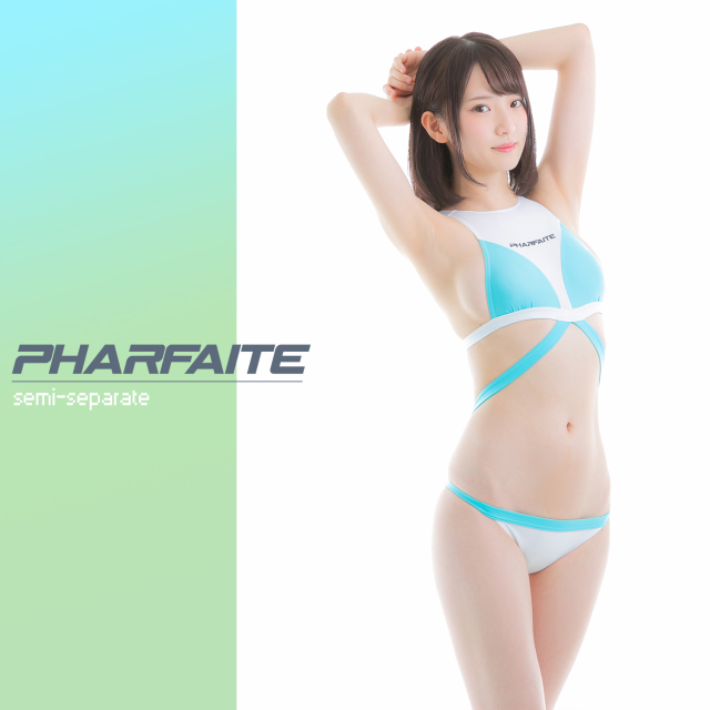 〈ウェット加工素材〉PHARFAITEセミセパレート競泳水着