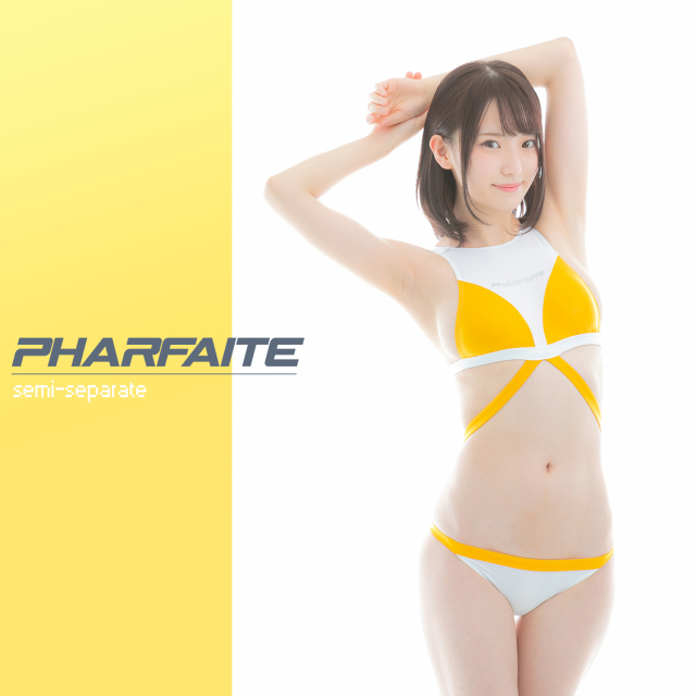 PHARFAITE / セミセパレート Color:White×Skyblue / White×Mango / Black×Purple パルフェットスポーツウェアライン 競泳水着
