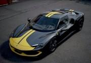 予約品 ~2022年頃 ミニカー BBR MODELS 1/43 BBRC265A フェラーリ Ferrari 296 Assetto Fiorano Grigio Coburn Stripe In Giallo Modena