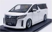 予約品 2022年4月頃 ミニカー ignition model(イグニッションモデル) 1/18 IG2428 トヨタアルファード Toyota Alphard (H30W) Executive Lounge S Pearl White 生産数:120pcs 4573448894280