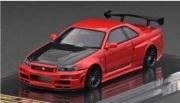 予約品 2022年3月頃 ミニカー ignition model(イグニッションモデル) 1/64 IG2578 日産スカイライン Nismo R34 GT-R R-tune Red 4573448895782