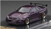 予約品 2022年3月頃 ミニカー ignition model(イグニッションモデル) 1/64 IG2720 日産スカイライン Nismo R34 GT-R R-tune Purple 4573448897205