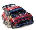 予約品 2020年2月頃 ミニカー  NOREV(ノレブ) 1/43 155366 シトロエン C3 WRC 2019年ラリー・モンテカルロ 優勝 #1 S.Ogier/ J.Ingrassia 3551091553663