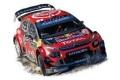 お取り寄せ予約品 2020年2月頃 ミニカー  NOREV(ノレブ) 1/18 181645 シトロエン C3 WRC  2019年ラリー・モンテカルロ 優勝 #1  S.Ogier / J.Ingrassia 3551091816454