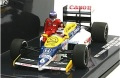ミニカー MINICHAMPS(ミニチャンプス)  ダイキャストモデル 1/43 410860106 ウィリアムズ ホンダ FW11 ケケ・ロズベルグ ドイツGP 1986 ライド オン ネルソン・ピケ フィギュア付