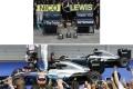 お取り寄せ予約品 12月以降 ミニカー MINICHAMPS(ミニチャンプス)ダイキャストモデル 1/43 412164406 メルセデス AMG ペトロナス F1 チーム W07 ハイブリッド コンストラクター ワールド チャンピオン 2016 2台セット