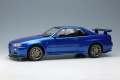 予約品 9月頃 ミニカー IDEA (イデア) レジンモデル 1/18 IM024A Nissan Skyline GT-R (BNR34) V-spec II 2000 ベイサイドブルー 4573433686883
