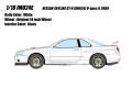 予約品 9月頃 ミニカー IDEA (イデア) レジンモデル 1/18 IM024E Nissan Skyline GT-R (BNR34) V-spec II 2000 ホワイト 4573433686920