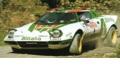 お取り寄せ予約品 10月頃 ミニカー サンスター SunStar 1/18 4628 ランチア ストラトス  HF   1976年Rallye Sanremo 2位 #1 S.Munari/S.Maiga (泥はね仕様) 0657440046282