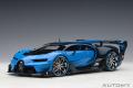 予約品 2020年2月以降順次 ミニカー AUTOart (オートアート・コンポジットダイキャストモデル) 1/18 70986 ブガッティ ビジョン グランツーリスモ (ライトブルー/ブルー・カーボン)