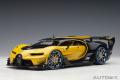 予約品 2020年2月以降順次 ミニカー AUTOart (オートアート・コンポジットダイキャストモデル) 1/18 70989 ブガッティ ビジョン グランツーリスモ (メタリック・イエロー/ブラック・カーボン)