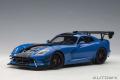 予約品 6月以降順次 ミニカー AUTOart(オートアート・コンポジットダイキャストモデル) 1/18 71734 ダッジ バイパー ACR (ブルー/ブラック・ストライプ)