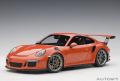 お取り寄せ品 ミニカー AUTOart (オートアート・コンポジットダイキャストモデル) 1/18 78168 ポルシェ 911 (991) GT3 RS (オレンジ)