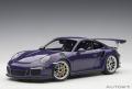 お取り寄せ品 ミニカー AUTOart (オートアート・コンポジットダイキャストモデル) 1/18 78169 ポルシェ 911 (991) GT3 RS (バイオレット)