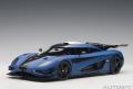お取り寄せ品 順次 ミニカー AUTOart (オートアート)コンポジットダイキャストモデル 1/18 79018 ケ−ニグセグ One:1 (マット・ブルー/カーボンブラック/ホワイト)