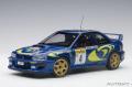 お取り寄せ品 ミニカー AUTOart (オートアート)ダイキャスト 1/18 89791 スバル インプレッサ WRC 1997 #4 (ピエロ・リアッティ/ファブリツィア・ポンス) モンテカルロラリー優勝