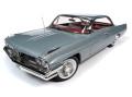 お取り寄せ予約品 ~2021年6月頃 ミニカー アメリカンマッスル American Muscle ダイキャスト (開閉機構付) 1/18 AMM1254 1961 ポンティアック カタリナ ハードトップ (Class of 1961) リッチモンドグレー 4548565402014