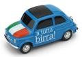 お取り寄せ予約品 12月頃 ミニカー BRUMM(ブルム) 1/43 BR063 フィアット ニュー 500  イタリア  Parto in quarta! - A tutta birra!  8020677025566