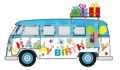 """予約品 2021年1月以降 ミニカー CORGI(コーギー)""""Gifting """" ダイキャストモデル 1/43 CGCC02734 VW キャンパーバン """"Happy Birthday"""""""