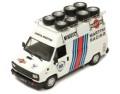 予約品 5月頃 ミニカー IXO(イクソ) 1/43 CLC306R フィアット デュカート Assistenza Lancia Martini  1984 タイヤ積載ルーフラック付