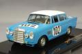 ミニカー IXO 1/43 GTM086 メルセデス・ベンツ 300SE #102 1964年SPA24時間 優勝 Crevits-G.Gosselin