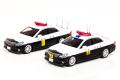 ミニカー RAI'S(レイズ)1/43 H743SE02 トヨタ クラウン (GRS202) 車列先導基準車両 2台セット  限定800セット 三重県警察高速道路交通警察隊/広島県警察交通部交通機動隊 4580198721292