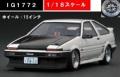 予約品 10月頃 ミニカー ignition model(イグニッションモデル) レジンモデル 1/18 IG1772 トヨタスプリンタートレノ(AE86) 3ドア TK-Street Early Ver ホワイト 160台生産 4573448887725
