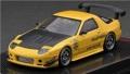 予約品 2022年1月頃 ミニカー ignition model(イグニッションモデル) 1/64 IG2494 マツダ Mazda RX-7 (FC3S) RE Amemiya Yellow 4573448894945