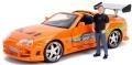 お取り寄せ予約品 10月頃 ミニカー ジャダトイズ JADATOYS ダイキャストモデル 1/24 JADA30738 映画「ワイルドスピード(F&F)」劇中車 トヨタ スープラ オレンジ ブライアン・オコナー フィギュア付 4548565393411