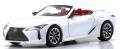 お取り寄せ予約品 2021年2月頃 ミニカー KYOSHO 京商  ダイキャストモデル 1/43 KS03902W レクサス LC500 コンバーチブル (ホワイトノーヴァガラスフレーク)ソフトトップ:ブラック 4548565387441