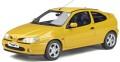 予約品 10月頃 ミニカー  OttO mobile レジンモデル(開閉機構なし) 1/18 OTM343 ルノー メガーヌ Mk.1 クーペ 2.0 16V (イエロー)世界限定 1,750個 4548565390861