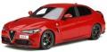 予約品 2020年3月頃 ミニカー OttO mobile (オットーモビル) レジンモデル(開閉機構なし) 1/18 OTM801 アルファ ロメオ ジュリア クアドリフォリオ (レッド) 世界限定 1,000個 4548565366118