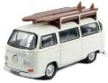 予約品 2021年1月頃 ミニカー  オックスフォード Oxford 1/76 OX76VW011 VW バス サーフボード付 (パステルホワイト)