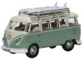 予約品 2020年4~6月頃 ミニカー  オックスフォード Oxford 1/76 OX76VWS005 VW T1 サンバ バス サーフボード付 ターコイズブルー/ホワイト