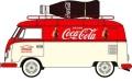 予約品 2019年4~6月頃 ミニカー OXFORD(オックスフォード) 1/76 OX76VWS07CC VW T1 バン ボトル積載 Coca Cola