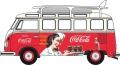 予約品 12月~2020年1月頃 ミニカー  オックスフォード Oxford 1/76 OX76VWS08CC VW T1 バス サーフボード付 コカ・コーラ