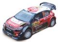 お取り寄せ予約品 5月頃 ミニカー IXO(イクソ) 1/43 RAM687 シトロエン C3 WRC 2018年ラリーRACCカタルーニャ 優勝 #10 S.Loeb / D.Elena