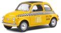 お取り寄せ予約品 10月頃 ミニカー SOLIDO (ソリド) ダイキャストモデル(開閉機構付) 1/18 S1801407 フィアット 500 タクシー NYC 1965 (イエロー) 4548565410538