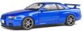 お取り寄せ予約品 2021年3月頃 ミニカー SOLIDO (ソリド) ダイキャストモデル 1/18 S1804301 日産 スカイライン R34 GT-R (ブルー) 4548565399789
