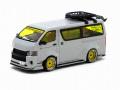 予約品 3月頃 ミニカー TARMAC WORKS(ターマックワークス) 1/64 T64-038-GR トヨタ Toyota Hiace Widebody Grey with roof rack 9580015715980